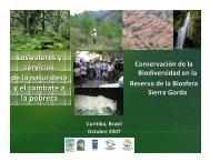 Los valores y servicios de la naturaleza y el combate a la pobreza