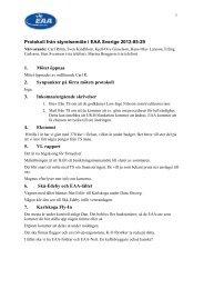 Protokoll från styrelsemöte i EAA Chapter 222 den 24/8 1999