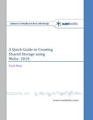 A Quick Guide to Creating Shared Storage using Melio ... - Sanbolic