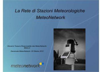 La rete – Il presente - Meteonetwork