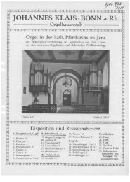 1910 Jena, kath. Pfarrkirche - Orgelbau Klais Bonn