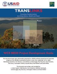 WCS REDD Project Development Guide - the Katoomba Group