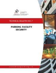 PARKING FACILITY SECURITY - Canadian Parking Association