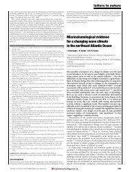 Microseismological evidence for a changing wave climate in the ...