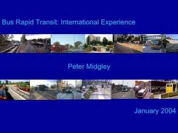 International Experience - Bus Rapid Transit Policy Center