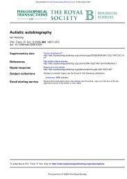 Autistic autobiography