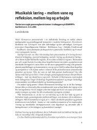 Musikalsk læring - Dansk Netværk for Musikpædagogisk Forskning