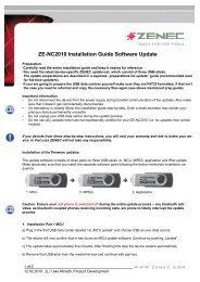 ZE-NC2010 Installation Guide Software Update - Zenec