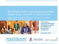 Self-Determination and American Indian Health Care: The Shift to ...