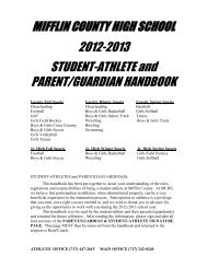 Student - Athletic Handbook 2012-2013 - Mifflin County School District