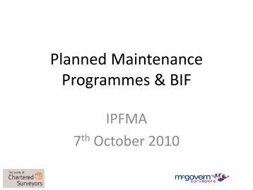 General Repair and Maintenance - IPFMA