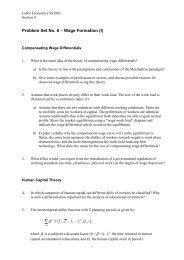 Problem Set No. 8 – Wage Formation (I)