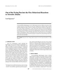 Out of the Frying Pan into the Fire: Behavioral Reactions to Terrorist ...