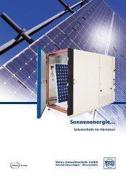 Sonnenenergie... - Weiss Umwelttechnik GmbH