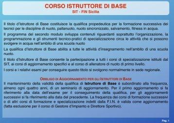CORSO ISTRUTTORE DI BASE - FinSicilia