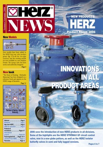 innovations in all product areas innovations in all ... - Herz Valves UK