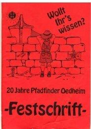 Festschrift - 20 Jahre Stamm Oedheim