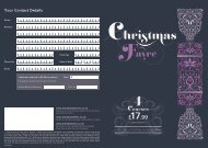 Christmas Fayre Booking Form - Swan