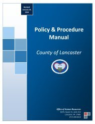 Policy & Procedure Manual County of Lancaster