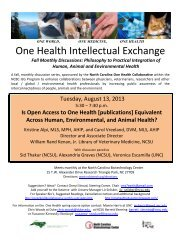 Open access to One Health publications - North Carolina One ...