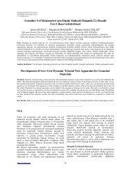 Granüler Yol Malzemeleri için Düşük Maliyetli Dinamik Üç Eksenli ...