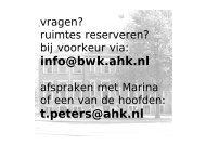 info@bwk.ahk.nl t.peters@ahk.nl