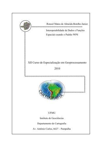 XII Curso de Especialização em Geoprocessamento 2010 - UFMG
