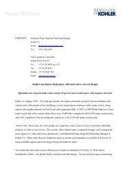 Download pdf [305KB] - me.KOHLER.com