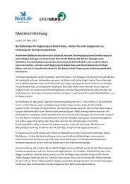 Hochstämmiges für Regierungsrat Robert Küng - Pro Natura Luzern