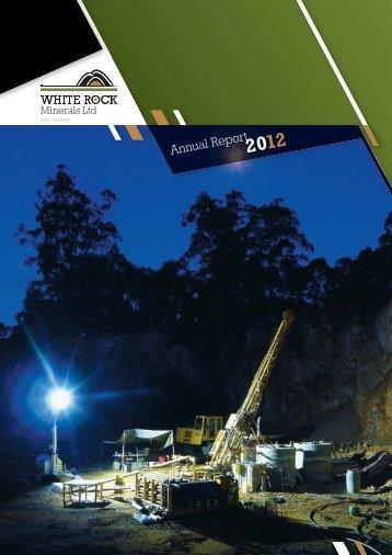 20120914 Annual Report 2012 - White Rock Minerals