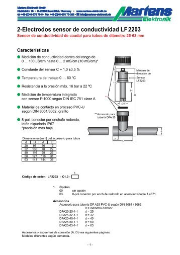 LF2203-00- Prospekt - Martens Elektronik GmbH