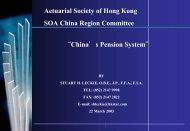 Pension Funds in China - Actuarial Society of Hong Kong