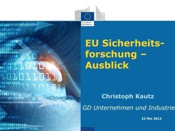EU Sicherheits- forschung – Ausblick - KIRAS Sicherheitsforschung