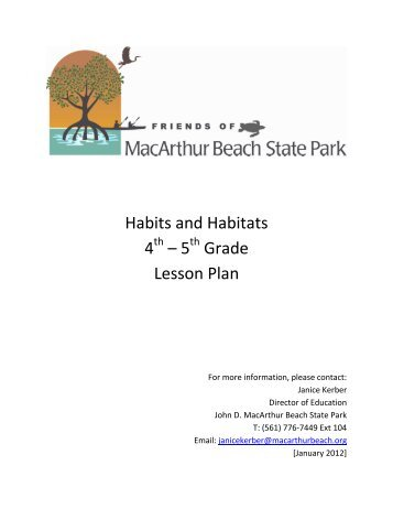 Habits and Habitats - John D. MacArthur Beach State Park