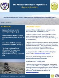 First Newsletter - Ministry of Mines