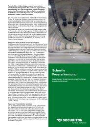 Anwendung Markusbierg Tunnel - Securiton GmbH