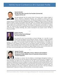 NATAS Travel Conference Speaker list - ITB Asia
