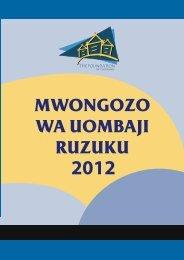 yaliyomo - The Foundation for Civil Society