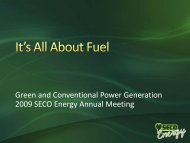 It's All About Fuel - SECO Energy