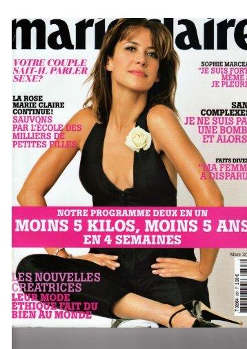 Marie Claire Mars 20.. - Medispa
