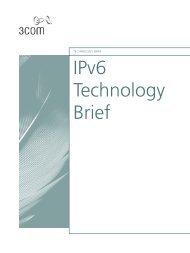 3Com IPv6 Technology Brief