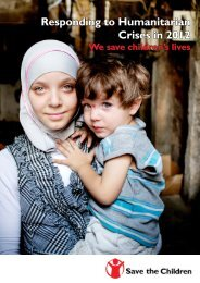 Responding to Humanitarian Crises in 2012 - Save the Children