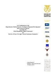 Submission – Draft RIS for Review of Euro 5/6 Light Vehicle ...