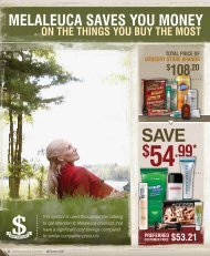 108.20 TOTAL PRICE OF GROCERy STORE BRAnDS - Melaleuca