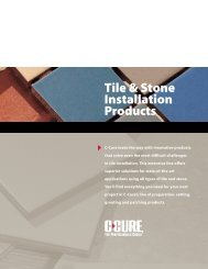 Tile & Stone Installations Brochure - C-Cure