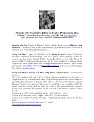 Friends of St Michael's, Discoed Events Programme 2012