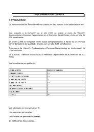 MANCOMUNIDAD DE TENTUDÍA. I. INTRODUCCIÓN. La ...
