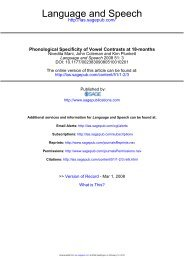 Phonological Specificity of Vowel Contrasts at 18-months