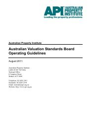 Australian Valuation Standards Board - The Australian Property ...