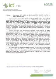 Příloha- Stanovisko ICTU-AORTA k návrhu opatření ... - ICT unie